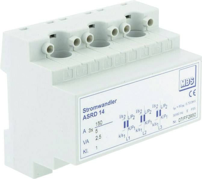 Zásuvný merací transformátor prúdu MBS ASRD 14 3X50/5A 1VA Kl.1