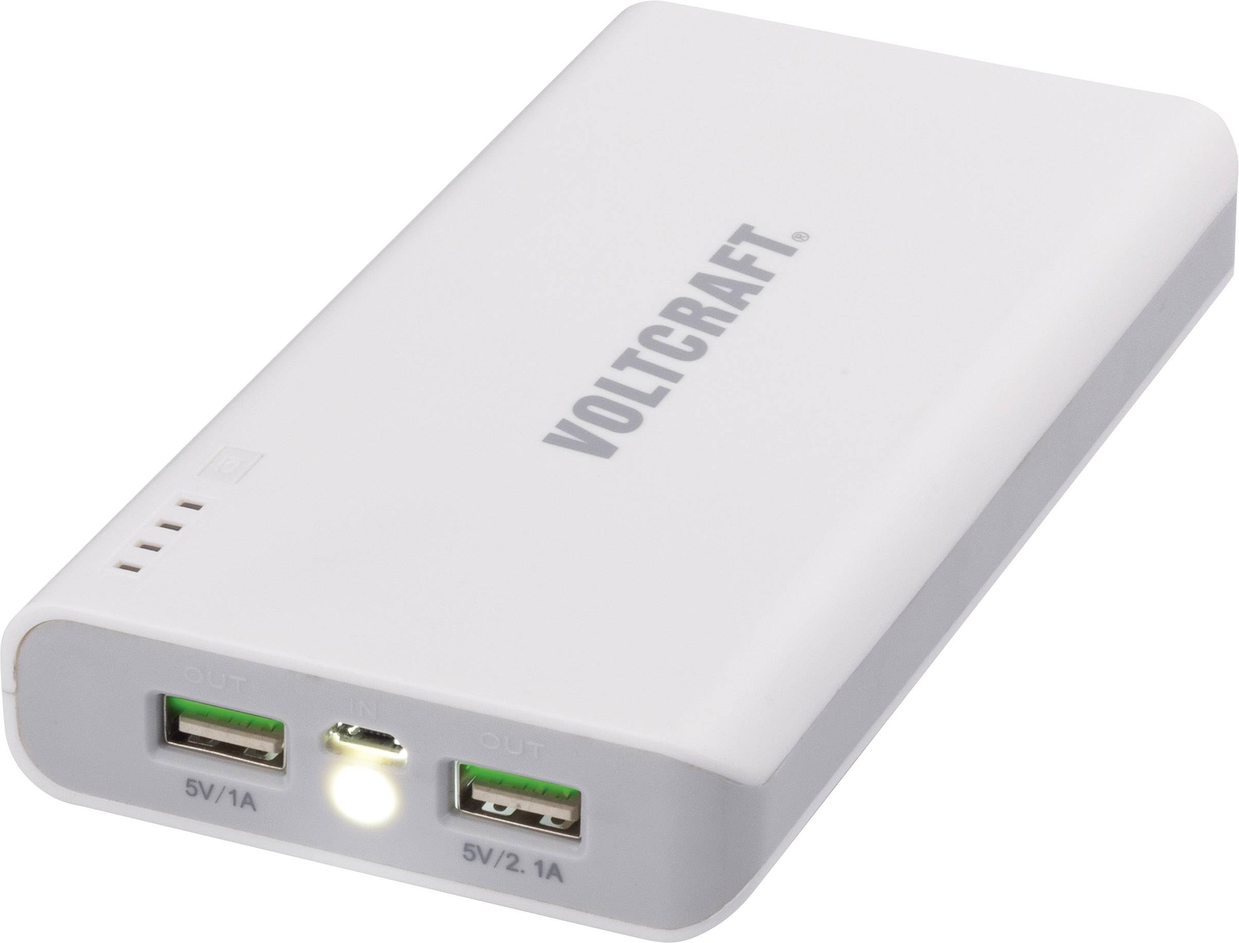 Powerbanka s mini LED svítilnou, VOLTCRAFT PB-9, pro 2 zařízení