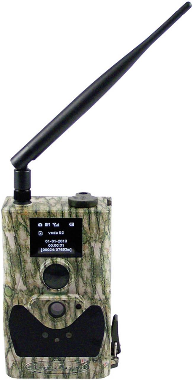 Fotopast Berger & Schröter SG880MK14M/HD, 14 MPix, černé LED diody, dálkové ovládání, GSM modul, nahrávání zvuku, maskáčová