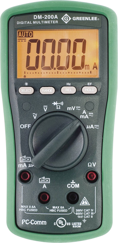 Digitálne/y ručný multimeter Greenlee DM-200A 52047801V2
