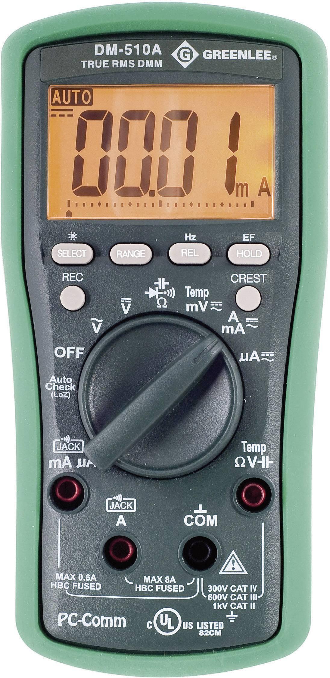 Digitálne/y ručný multimeter Greenlee DM-510A 52047803V2