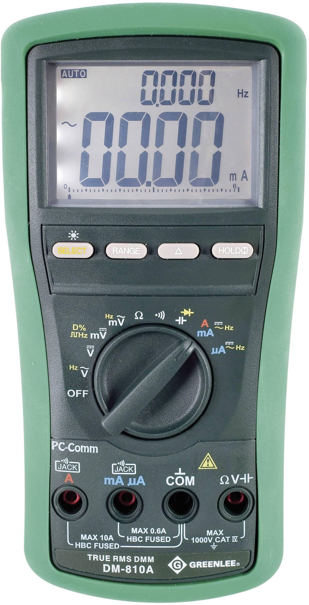 Digitálne/y ručný multimeter Greenlee DM-810A 52047805V2