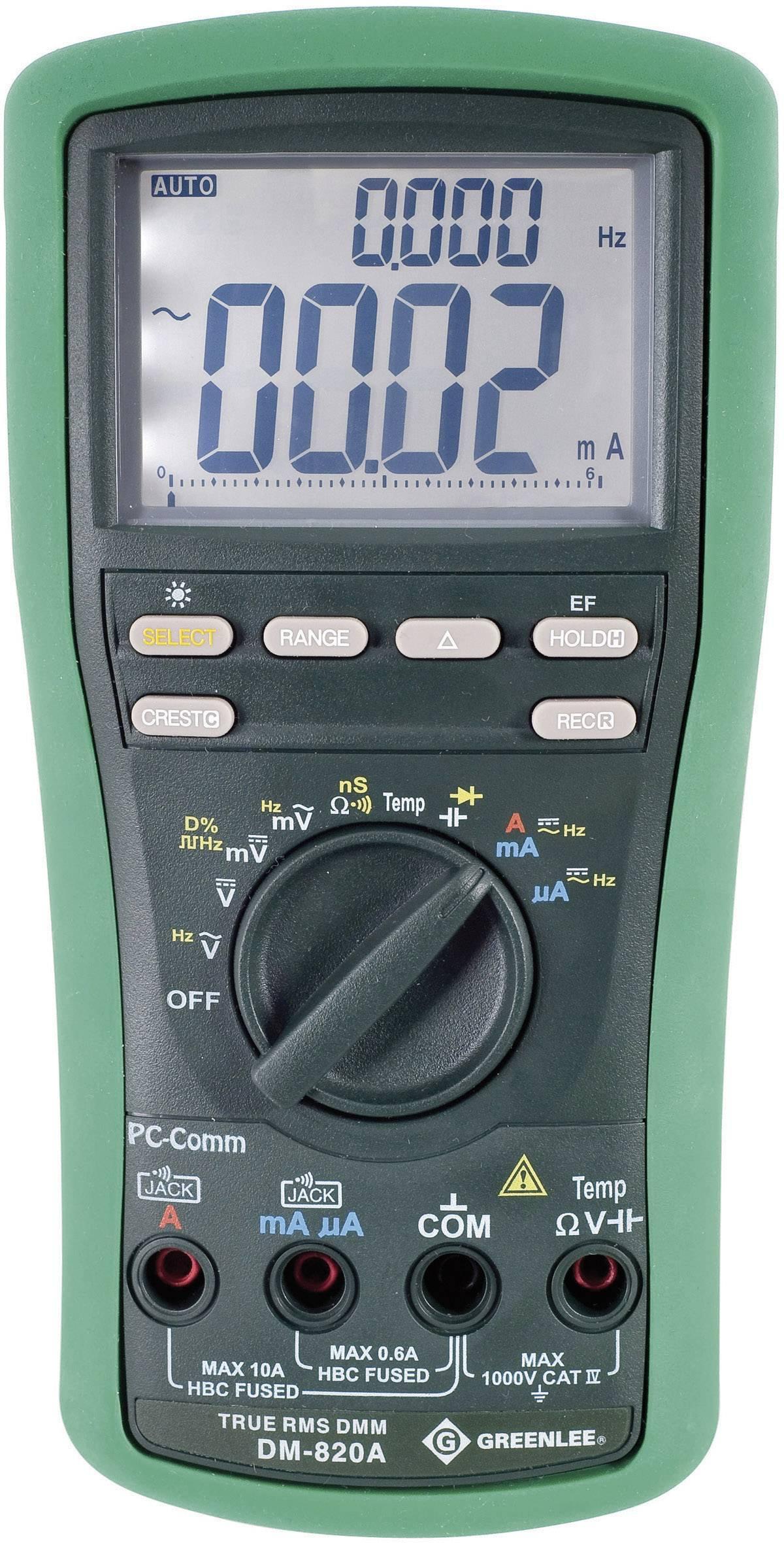 Digitálne/y ručný multimeter Greenlee DM-820A 52047806V2
