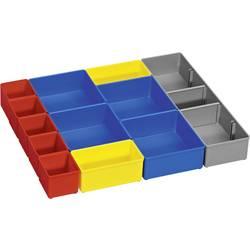 Vložka do kufříku na součástky Bosch Professional, 1600A001S5, přihrádek: 12, červená, modrá, žlutá, šedá
