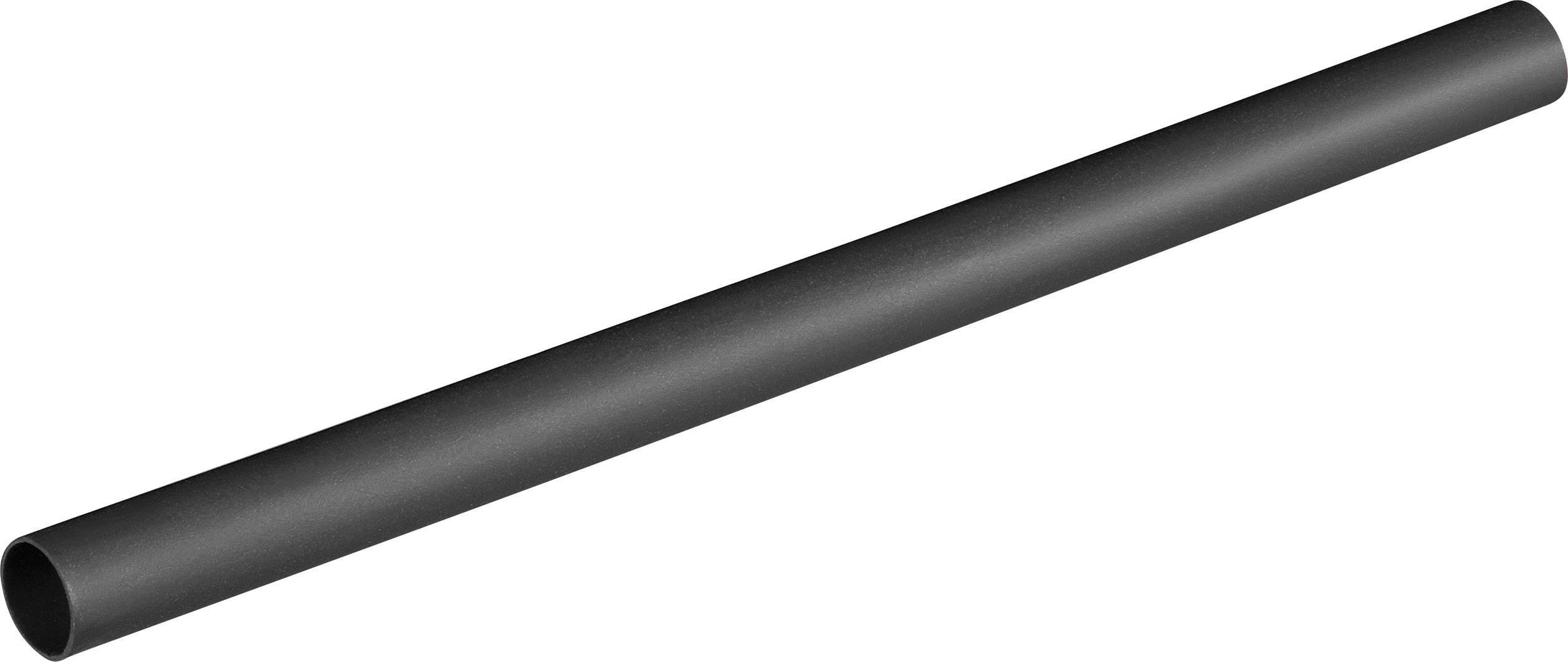 Zmršťovacia bužírka bez lepidla AlphaWire F221 3/8 BK, 2:1, 10 mm, čierna, 1.2 m