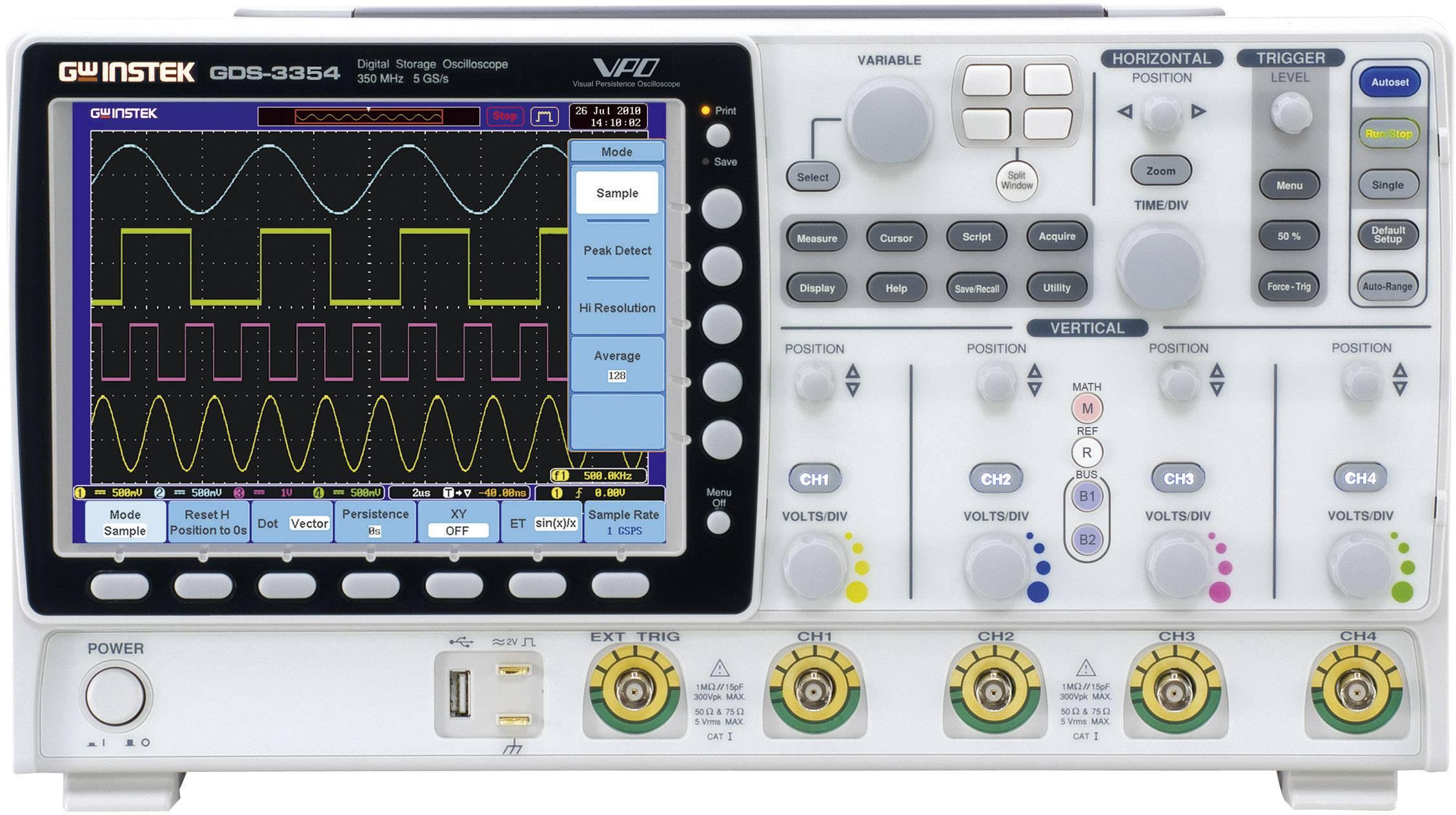Digitálny osciloskop GW Instek GDS-3354, 350 MHz, 4-kanálový