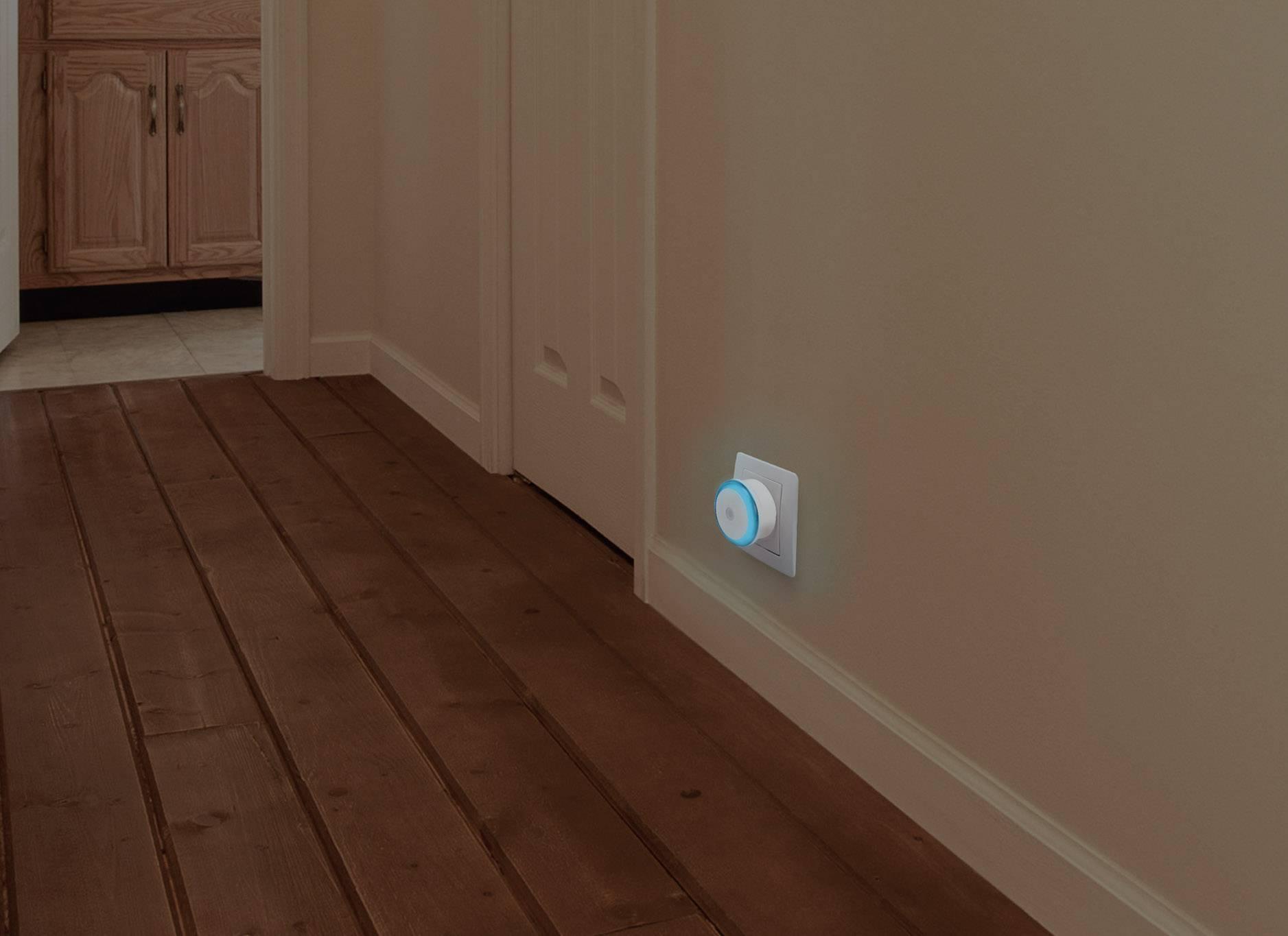 Sada nočních LED světel Renkforce Ruenda EMN100X2, 0, 8 W, červená a modrá