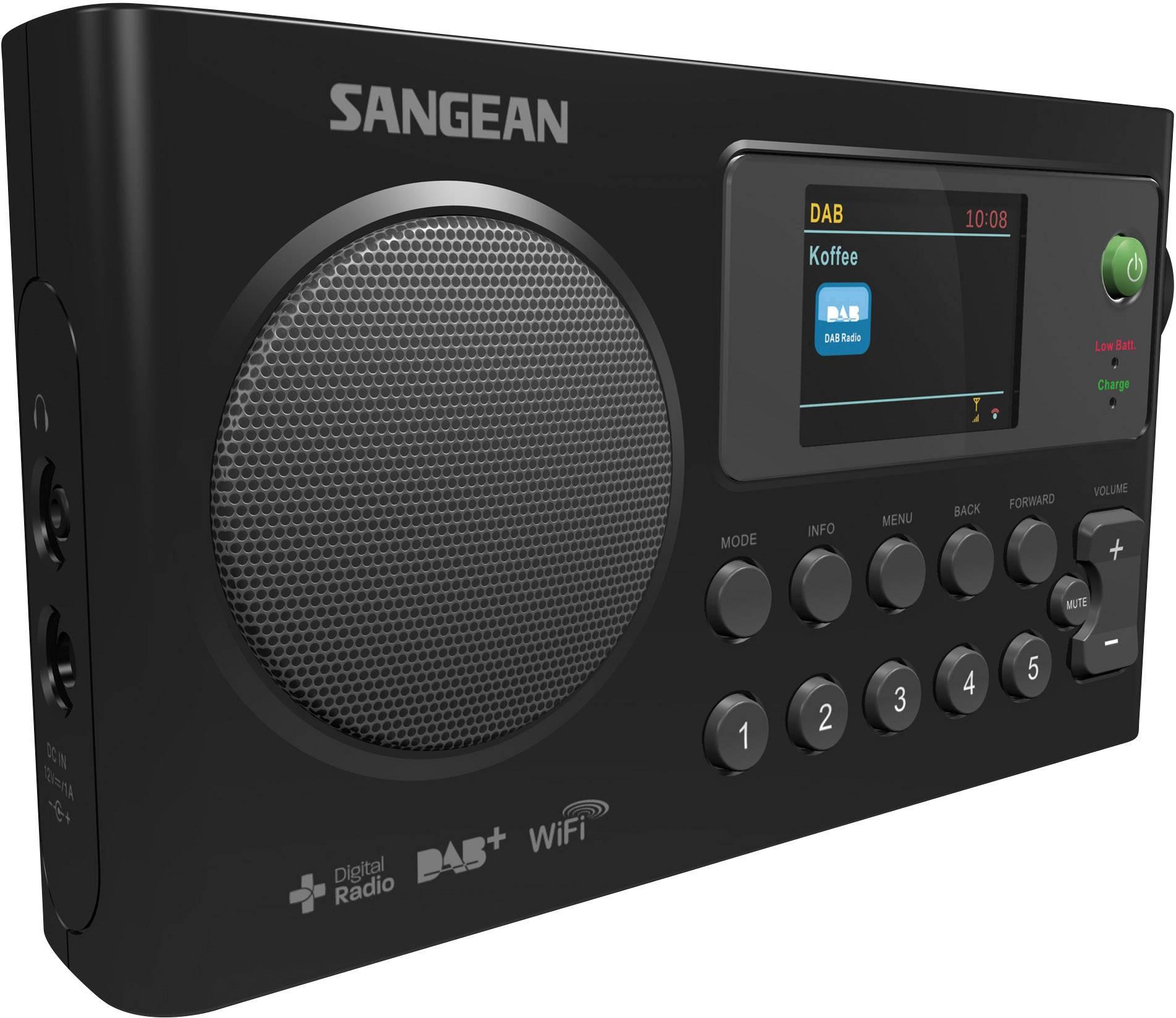 Internetové a DAB+ rádio Sangean WFR-27C, čierna
