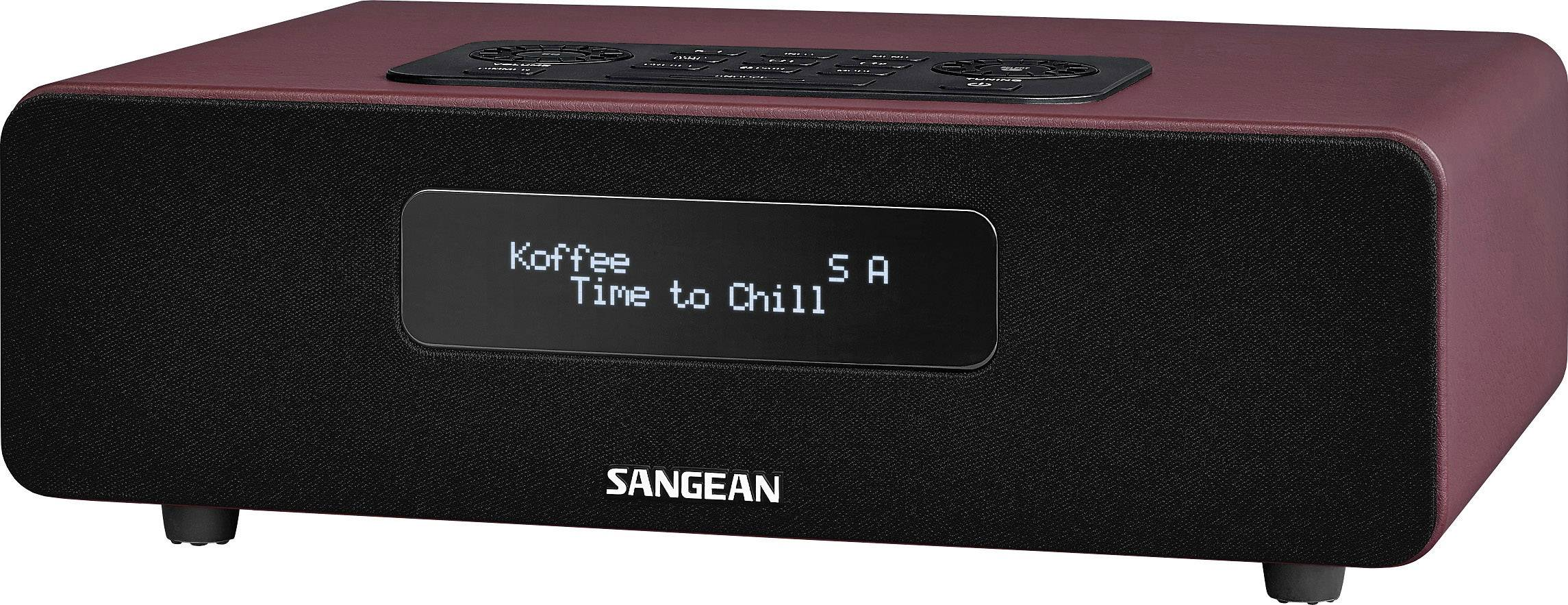 DAB+ rádio Sangean DDR-36 BT, FM, červené