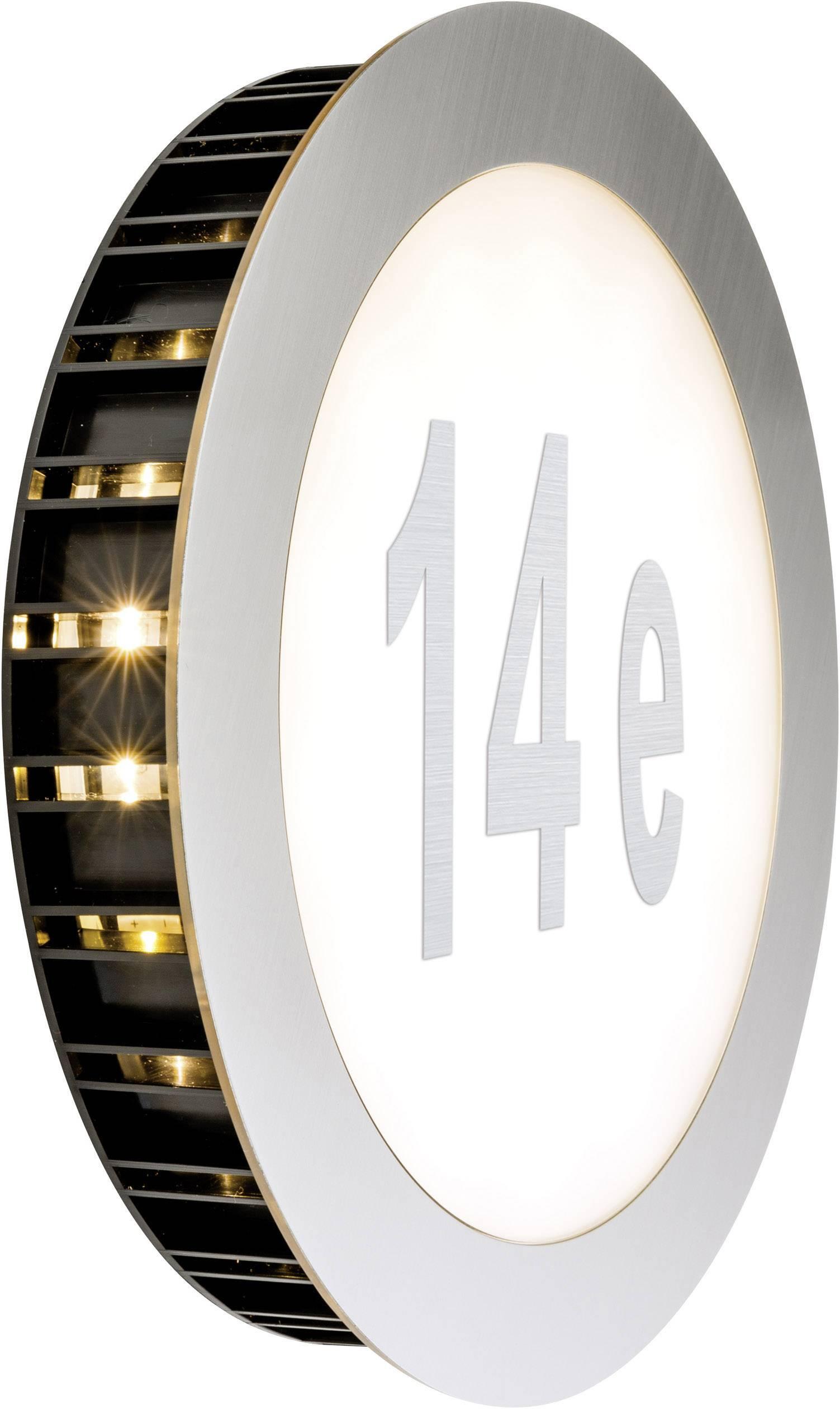 LED osvetlenie čísla domu 5.6 W teplá biela Paulmann Sunset 93791 nerezová oceľ