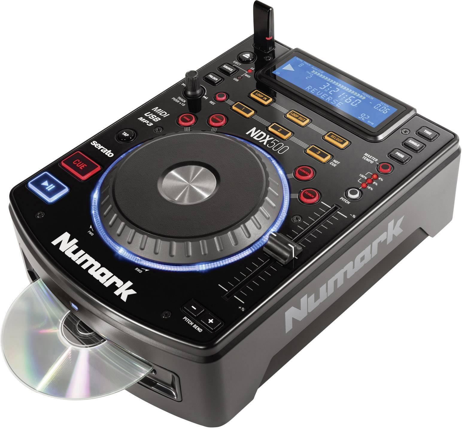 DJ single CD/MP3 prehrávač Numark NDX500, USB