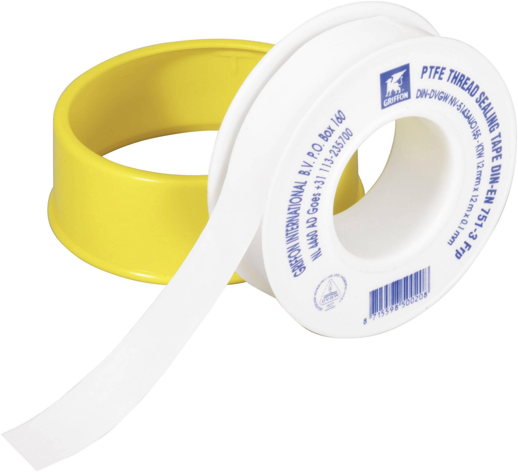 Teflónová páska Griffon, 6150016, 12 m x 0,1 mm