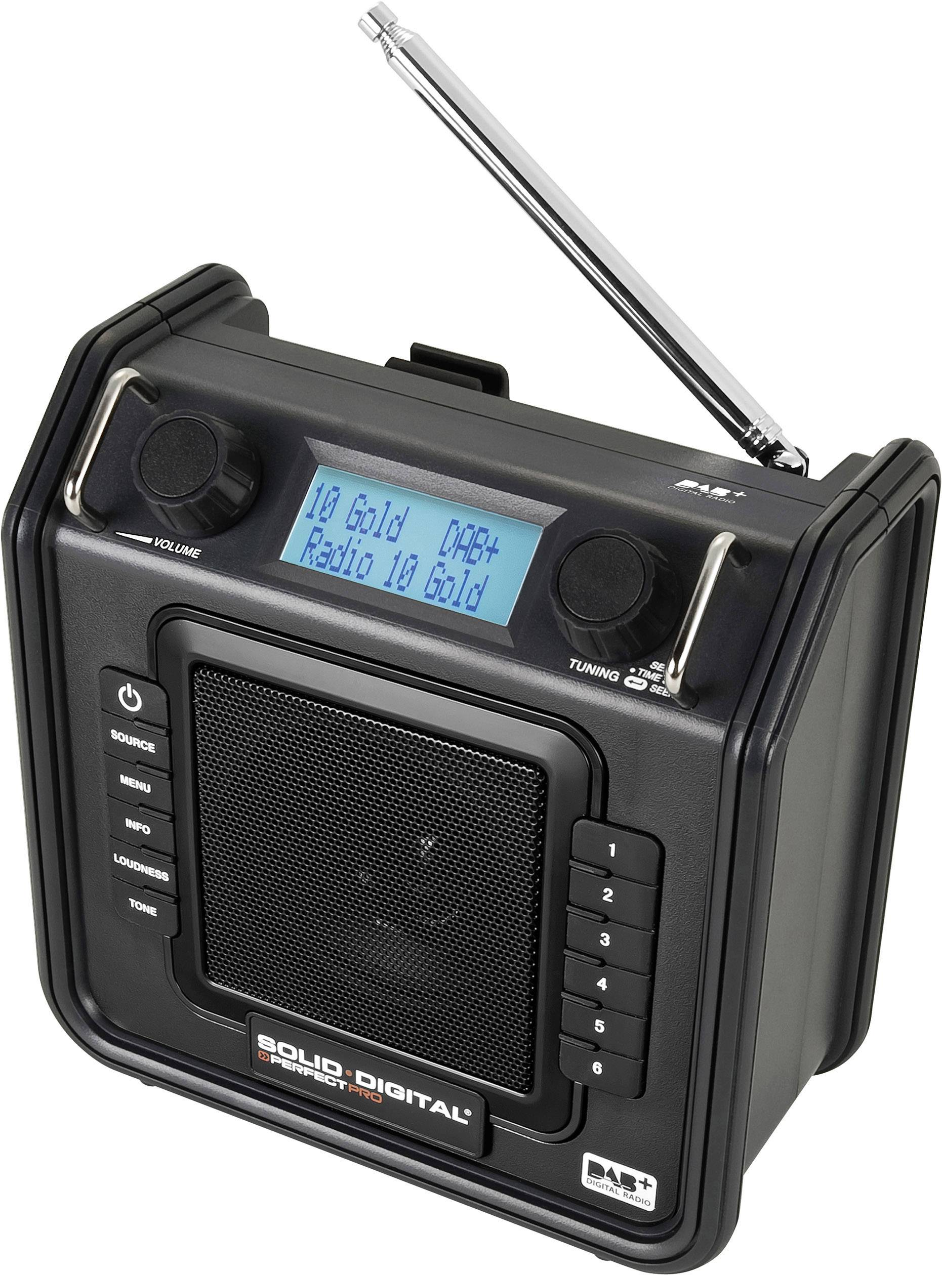 Stavebné DAB+ rádio PerfectPro Soliddigital, SD1, FM