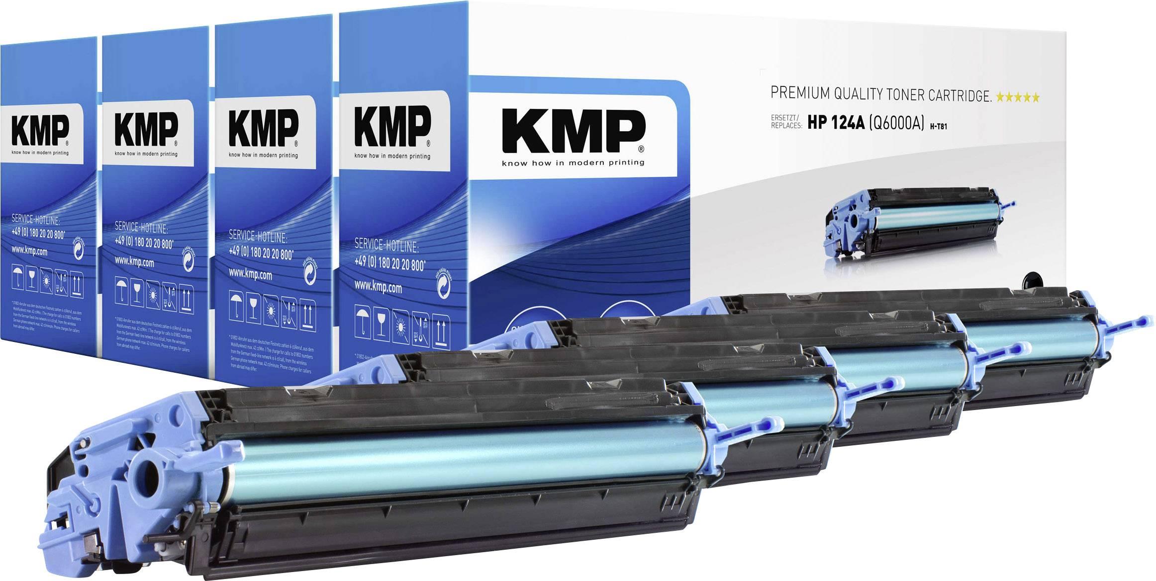 KMP sada tonerů náhradní HP 124A, Q6000A, Q6001A, Q6002A, Q6003A kompatibilní černá, azurová, purppurová, žlutá 2500 Seiten H-T81V