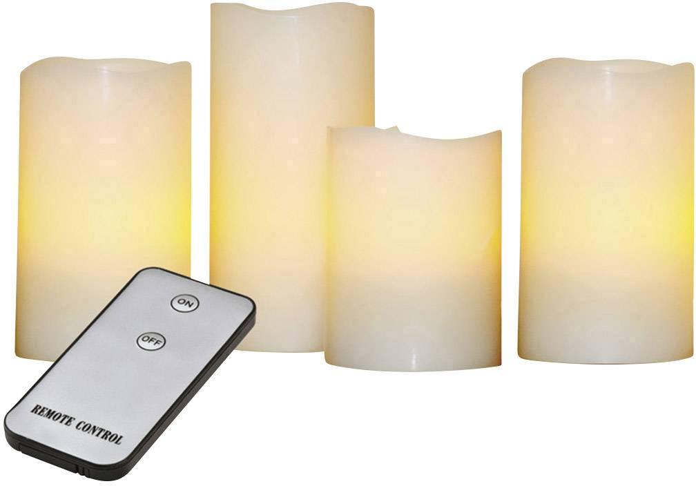 Bezdrôtové LED sviečky X4 Life, sada 4 ks, žltá