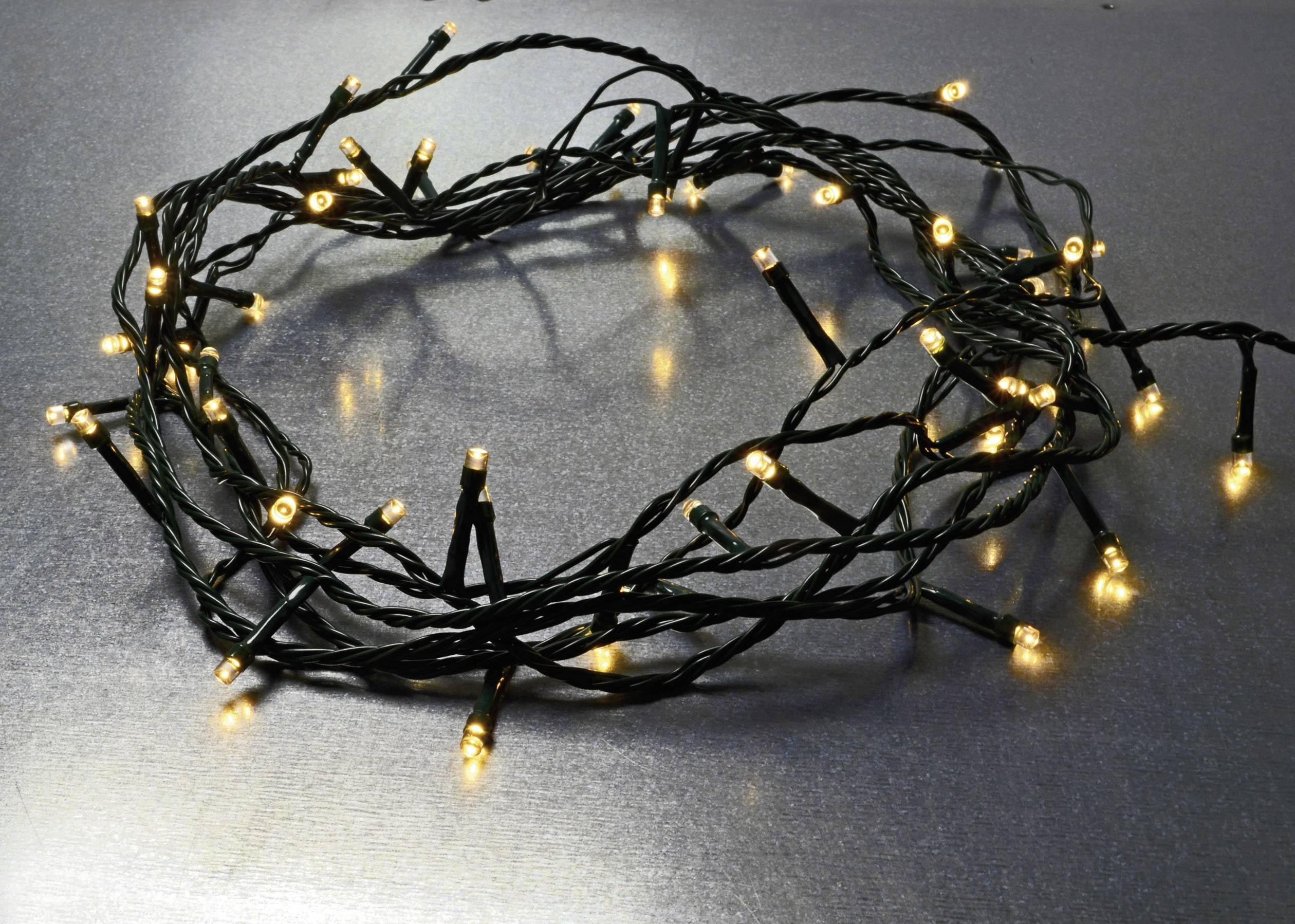 Vonkajšie/vnútroné LED osvetlenie na vianočný stromček X4-LIFE na batérie, teplá biela, 5 m