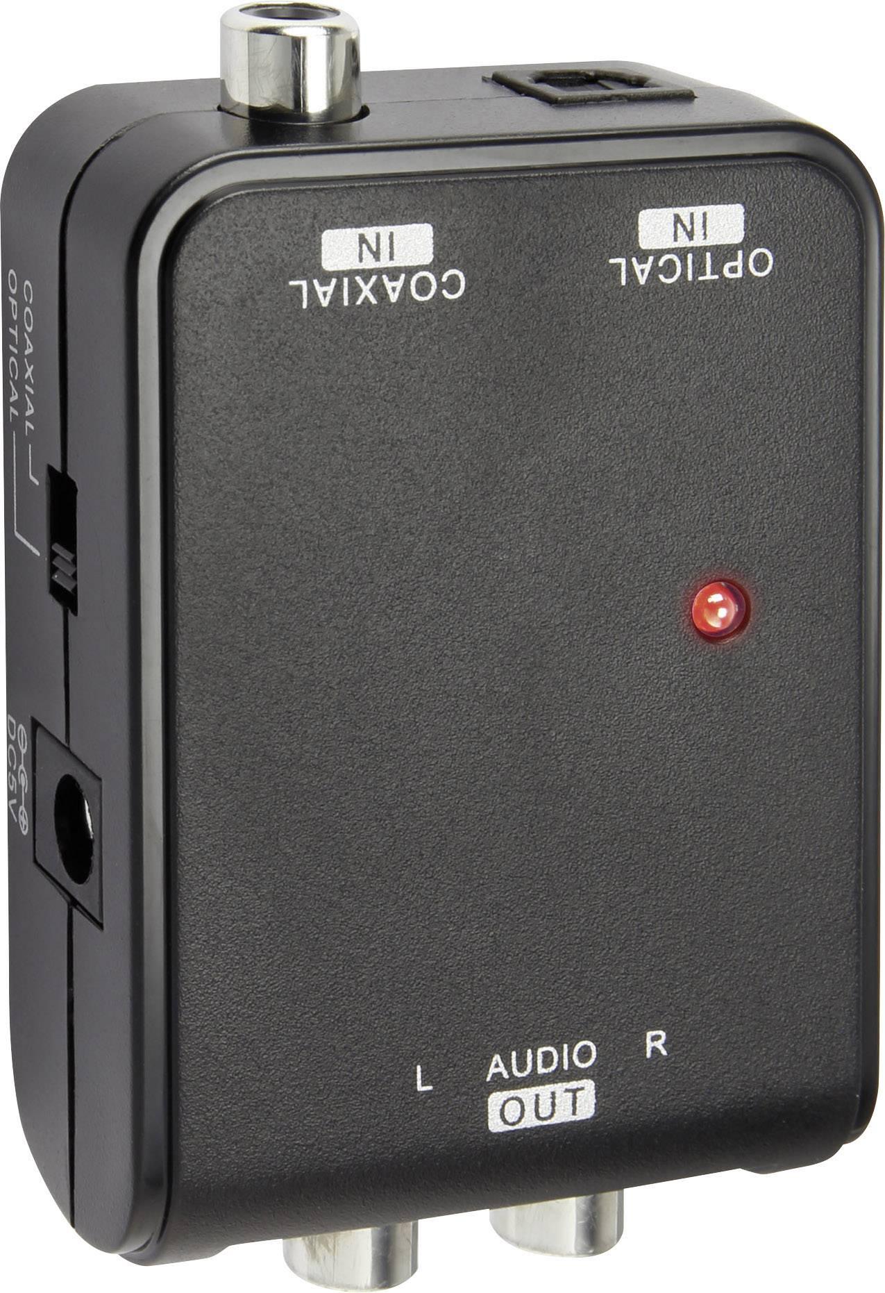 Audio prevodník SpeaKa, Toslink / Koax ⇒ stereo cinch