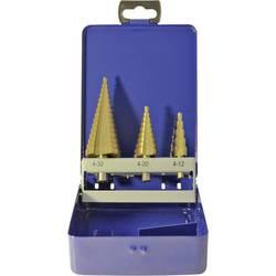 HSS sada stupňovitého vrtáku 3dílná X4 Tools 700186, 4 - 12 mm, 4 - 20 mm, válcová stopka, 1 sada