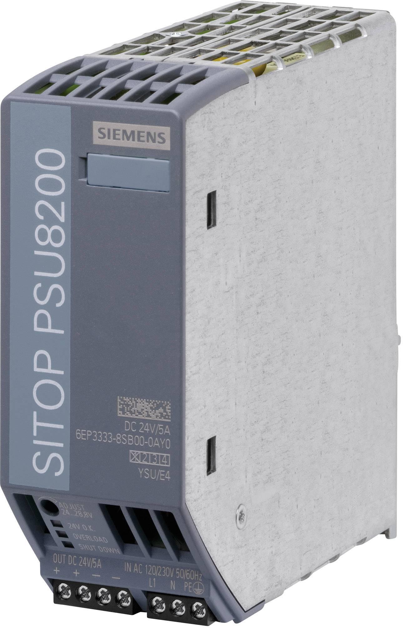 Síťový zdroj na DIN lištu Siemens SITOP PSU8200 24 V/5 A, 1 x, 24 V/DC, 5 A, 120 W