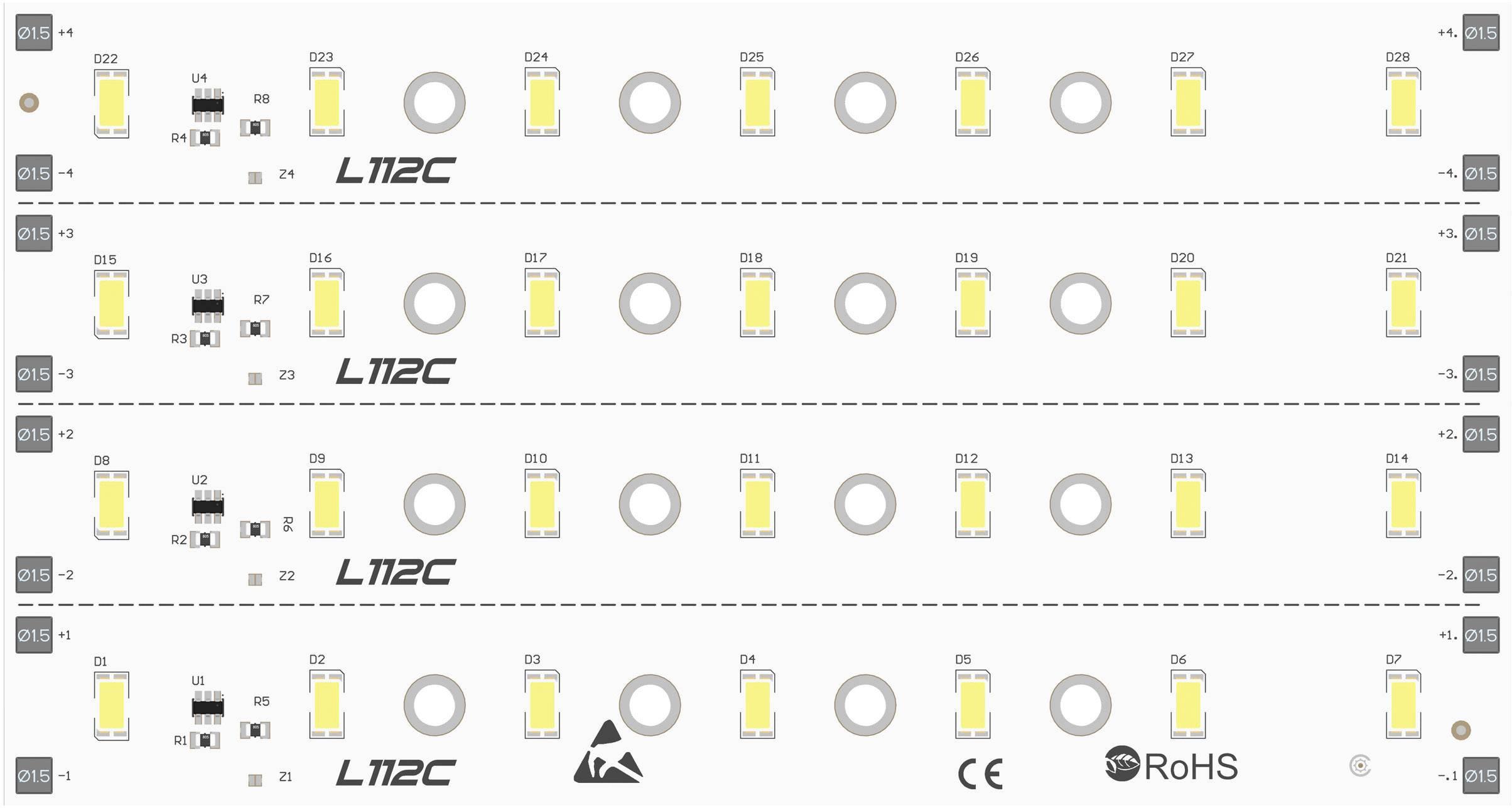 LED modul Barthelme 50751533, 120 °, 1297 lm, 12.48 W, 24 V, bílá