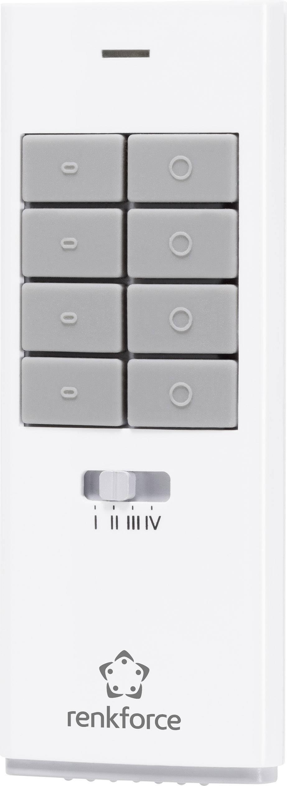 Bezdrôtové ovládanie okna Renkforce RS2W 1275696, 12-kanálový, max. dosah 150 m, biela