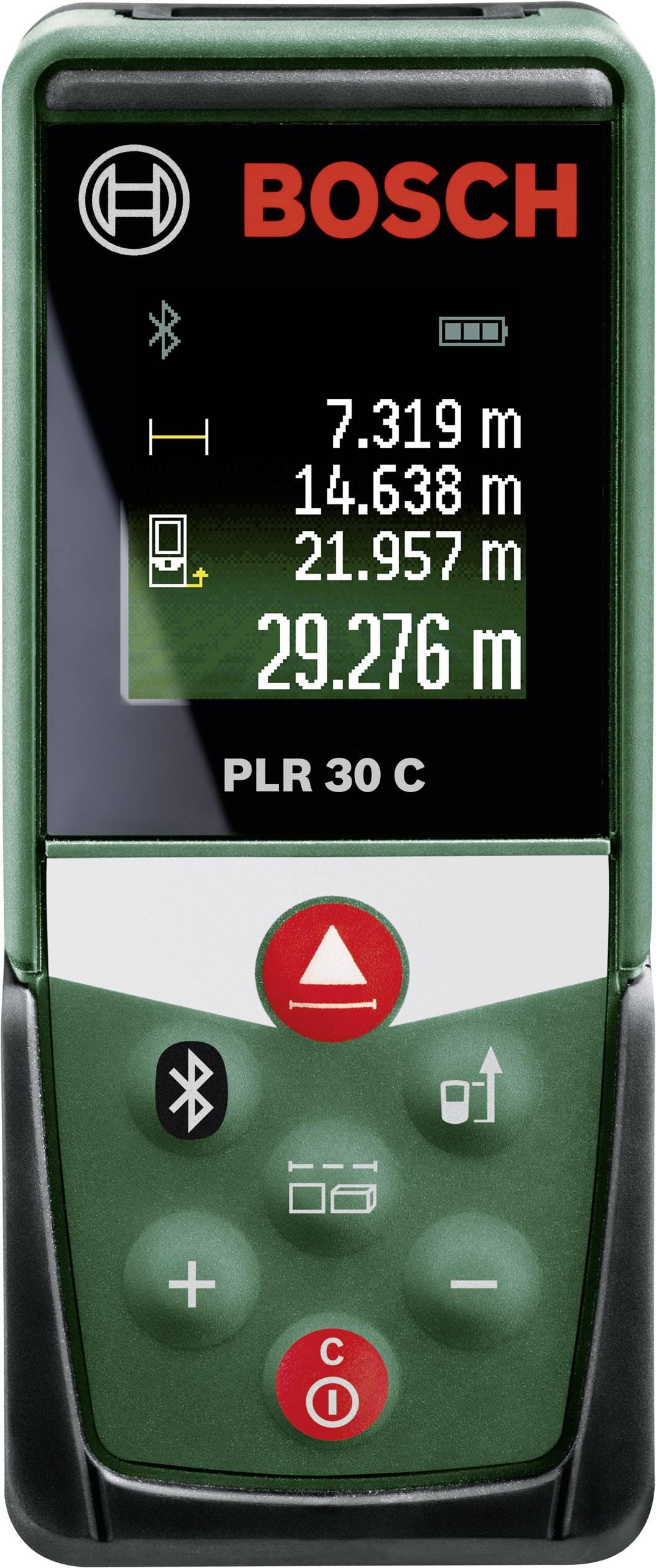 Laserový měřič vzdálenosti s Bluetooth Bosch Home and Garden PLR 30 C, Rozsah měření (max.) 30 m
