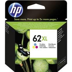 HP Inkoustová kazeta 62XL originál azurová, purppurová, žlutá C2P07AE