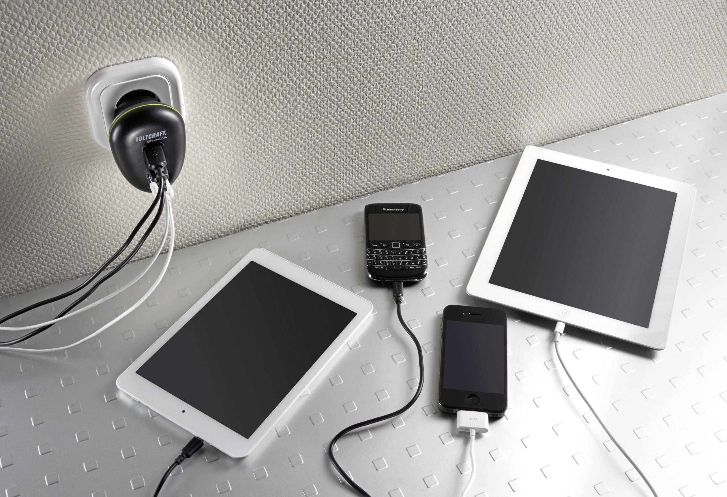 USB nabíjačka Voltcraft SPS-2400/4, 4x USB, 1 A
