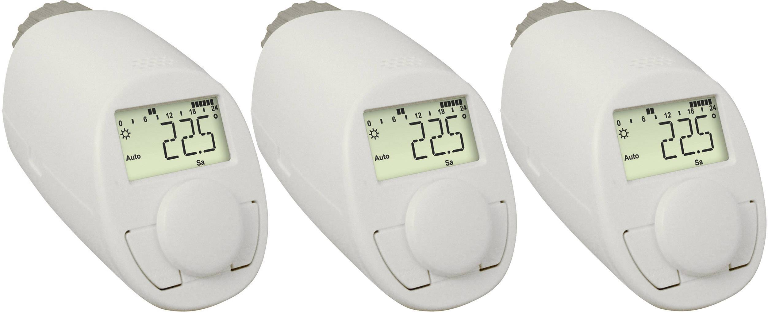 Programovatelná termostatická hlavice eqiva N, 5 až 29.5 °C, sada 3 ks