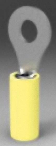 Káblové očko TE Connectivity PIDG 323784, průřez 6.604 mm², průměr otvoru 13.08 mm, čiastočne izolované, žltá, 1 ks