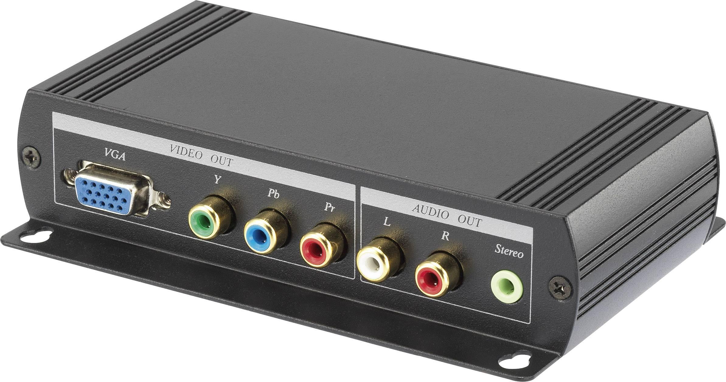 AV konvertor HDMI zásuvka ⇒ cinch zásuvka, jack zásuvka 3,5 mm, VGA zásuvka SpeaKa Professional SP-AVC-HDVCK SP-5108040