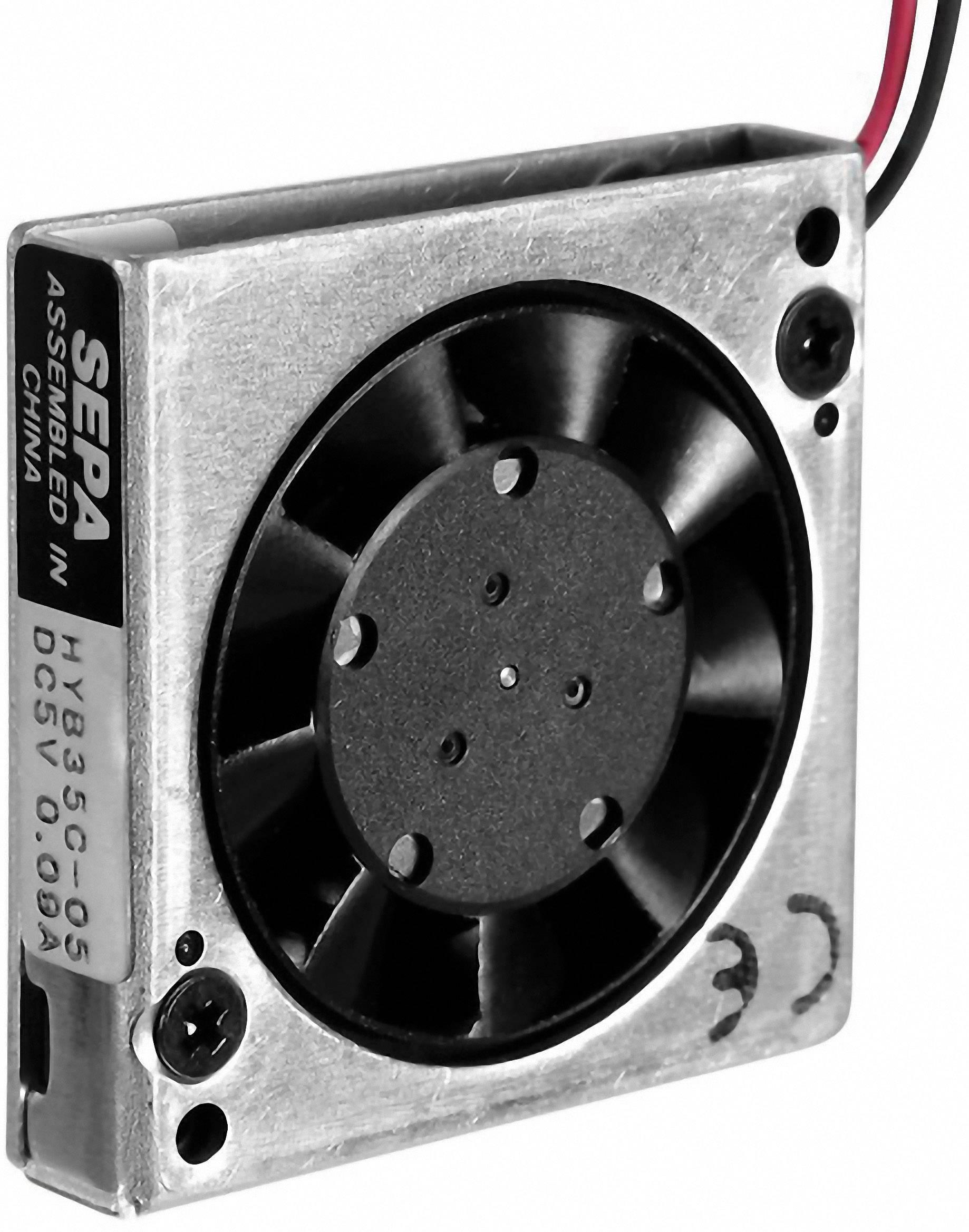 Axiálny ventilátor SEPA HYB35C05A 113531019, 5 V/DC, 27 dB, (d x š x v) 35 x 35 x 7.5 mm
