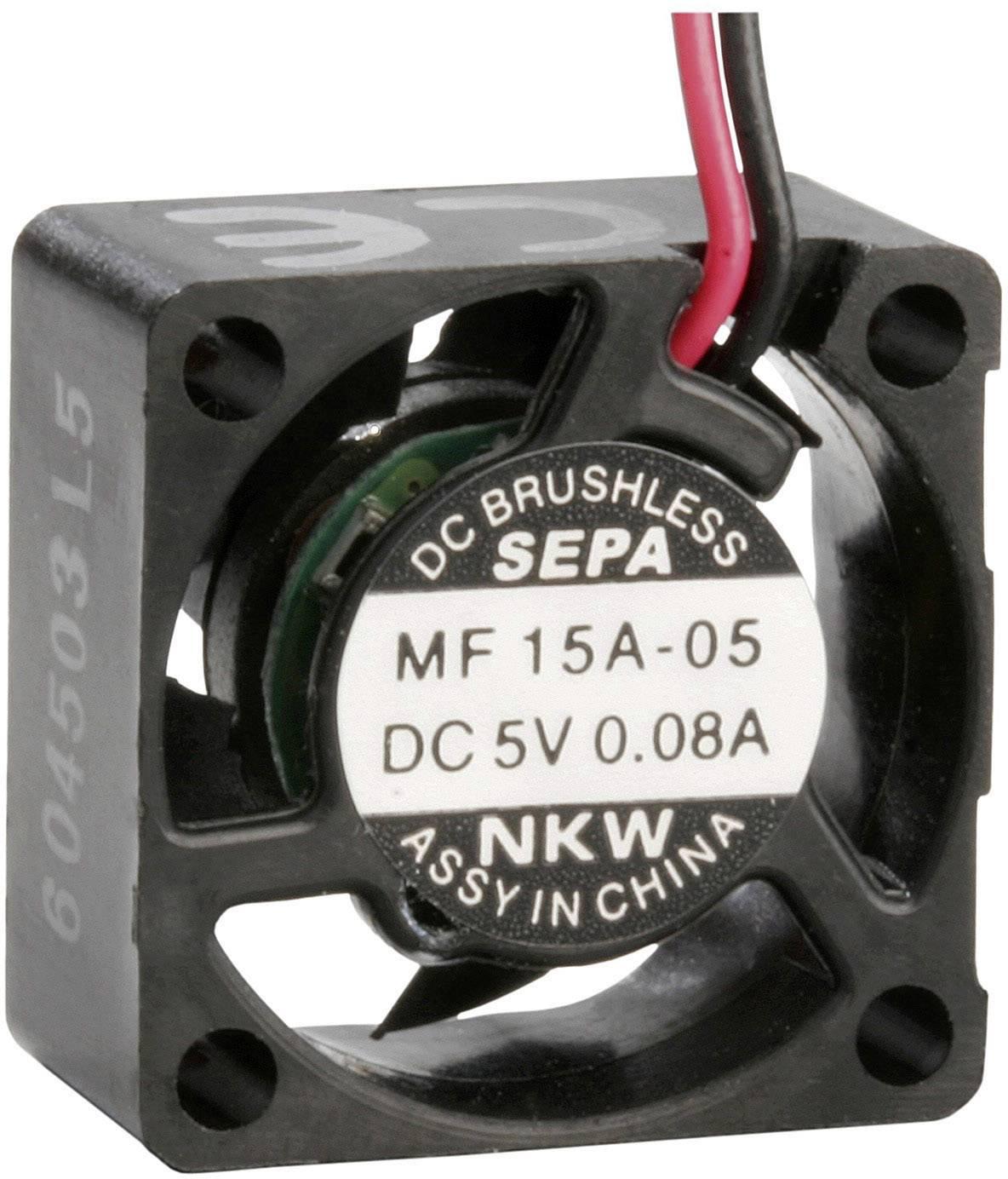 Axiální ventilátor SEPA MF15A05 MF15A05-BLI, 5 V/DC, 8 dB, (d x š x v) 15 x 15 x 8 mm