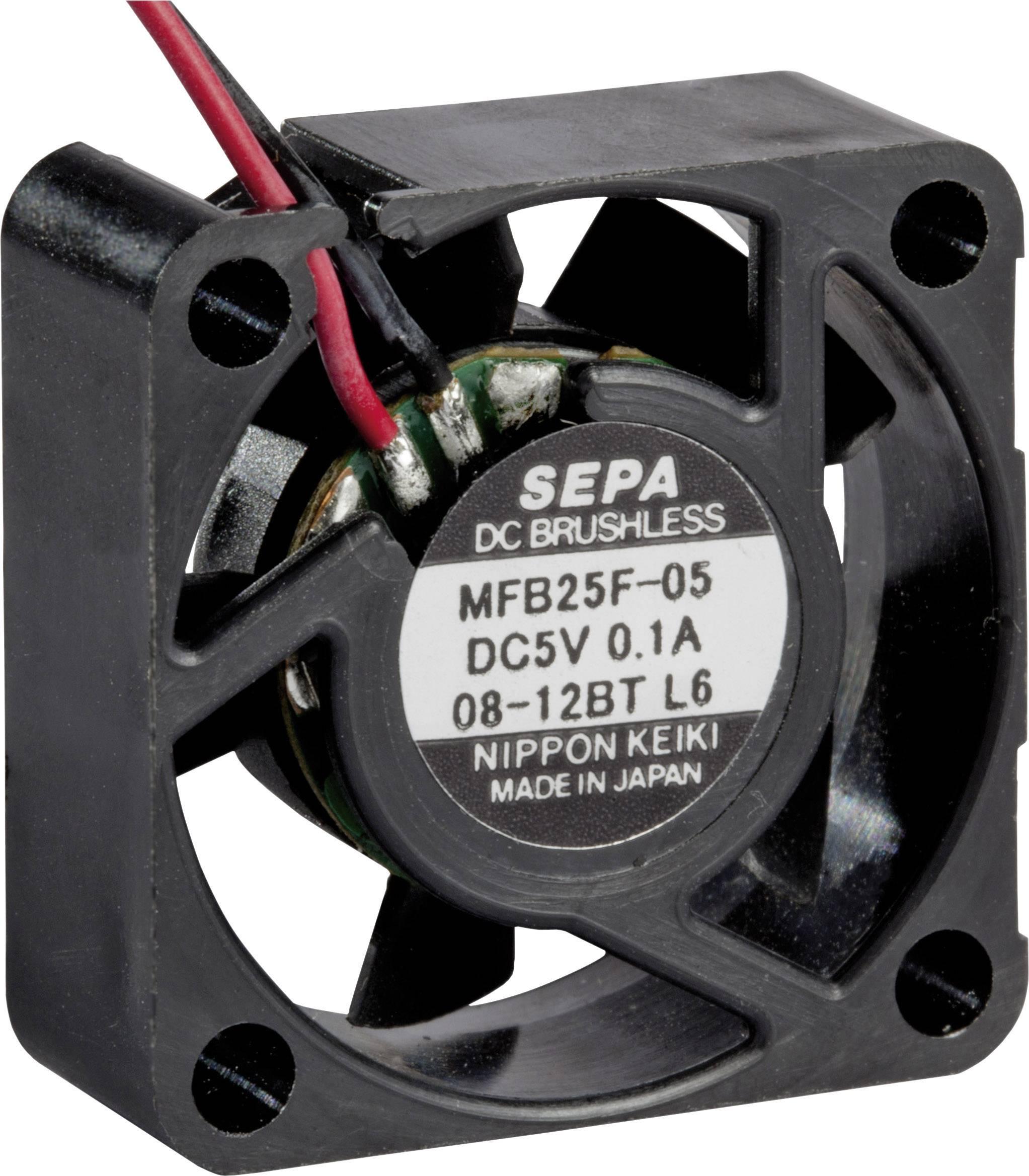 Axiální ventilátor SEPA MFB25F05 MFB25F05-BLI, 5 V/DC, 23 dB, (d x š x v) 25 x 25 x 10 mm