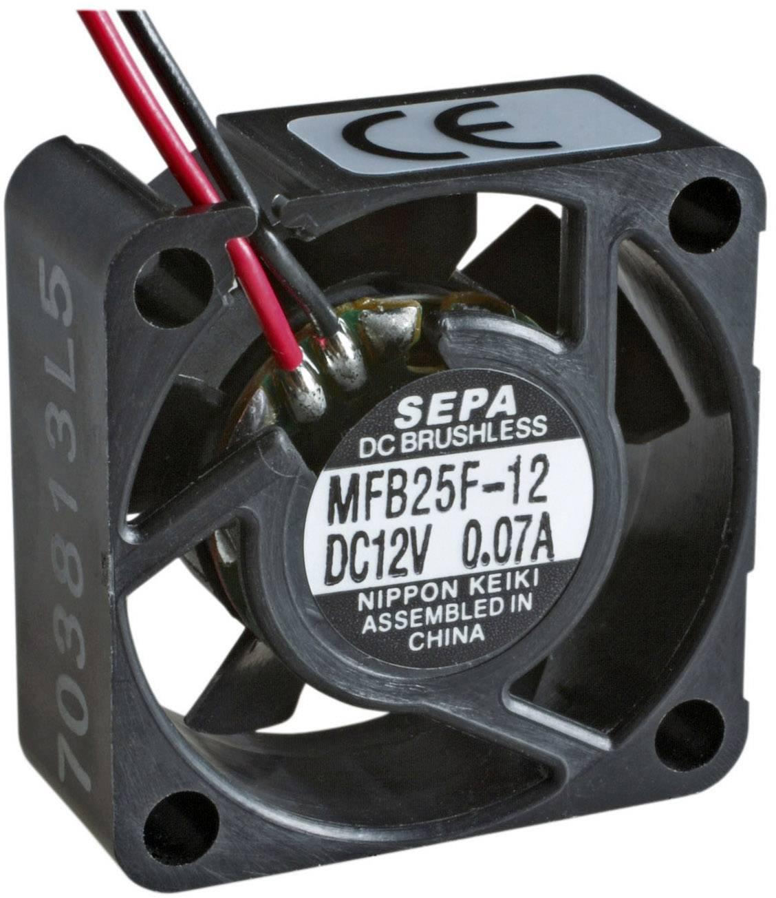 Axiální ventilátor SEPA MFB25F12 512562000, 12 V/DC, 23 dB, (d x š x v) 25 x 25 x 10 mm