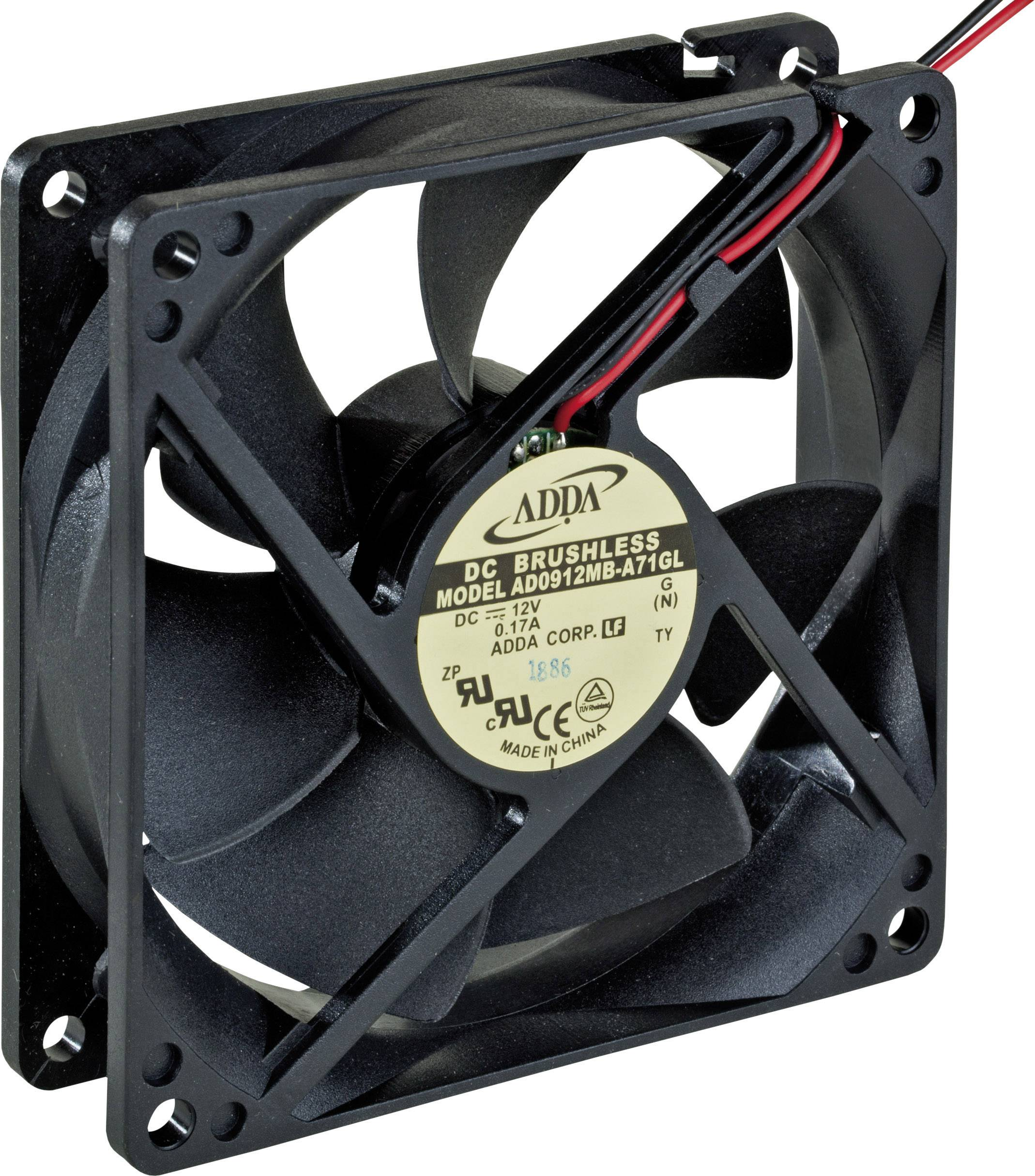 Axiálny ventilátor ADDA AD0912MB-A71GL 779232200, 12 V/DC, 92 x 92 x 25 mm