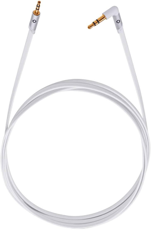 Jack audio prepojovací kábel Oehlbach 35000, 1.50 m, biela
