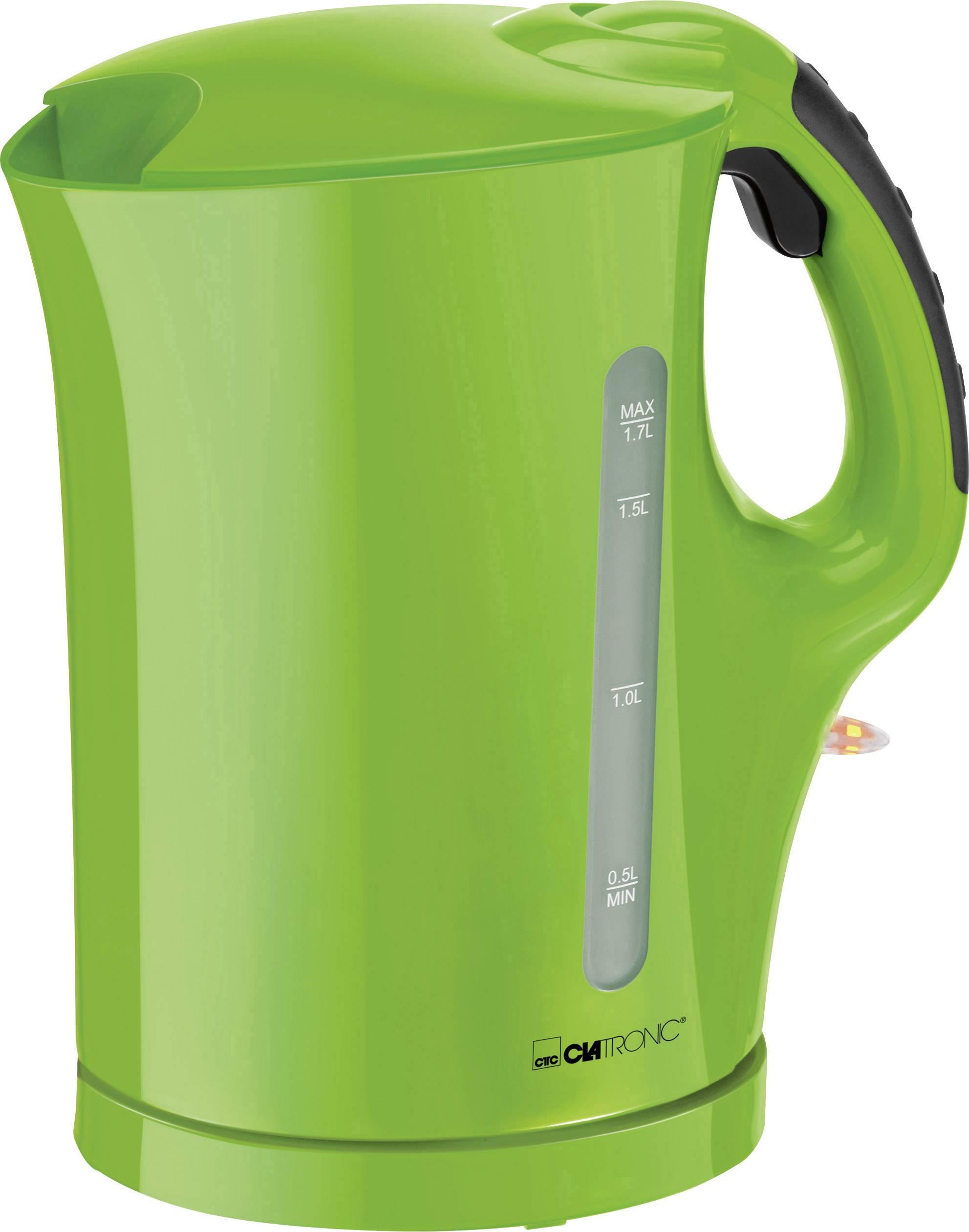 Rychlovarná konvice Clatronic WK 3445 263672, 2200 W, 1.7 l, zelená