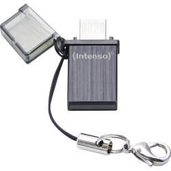 USB pamäť pre smartphone a tablet Intenso Mini MOBILE LINE, 8 GB, USB 2.0, micro USB 2.0, čierna