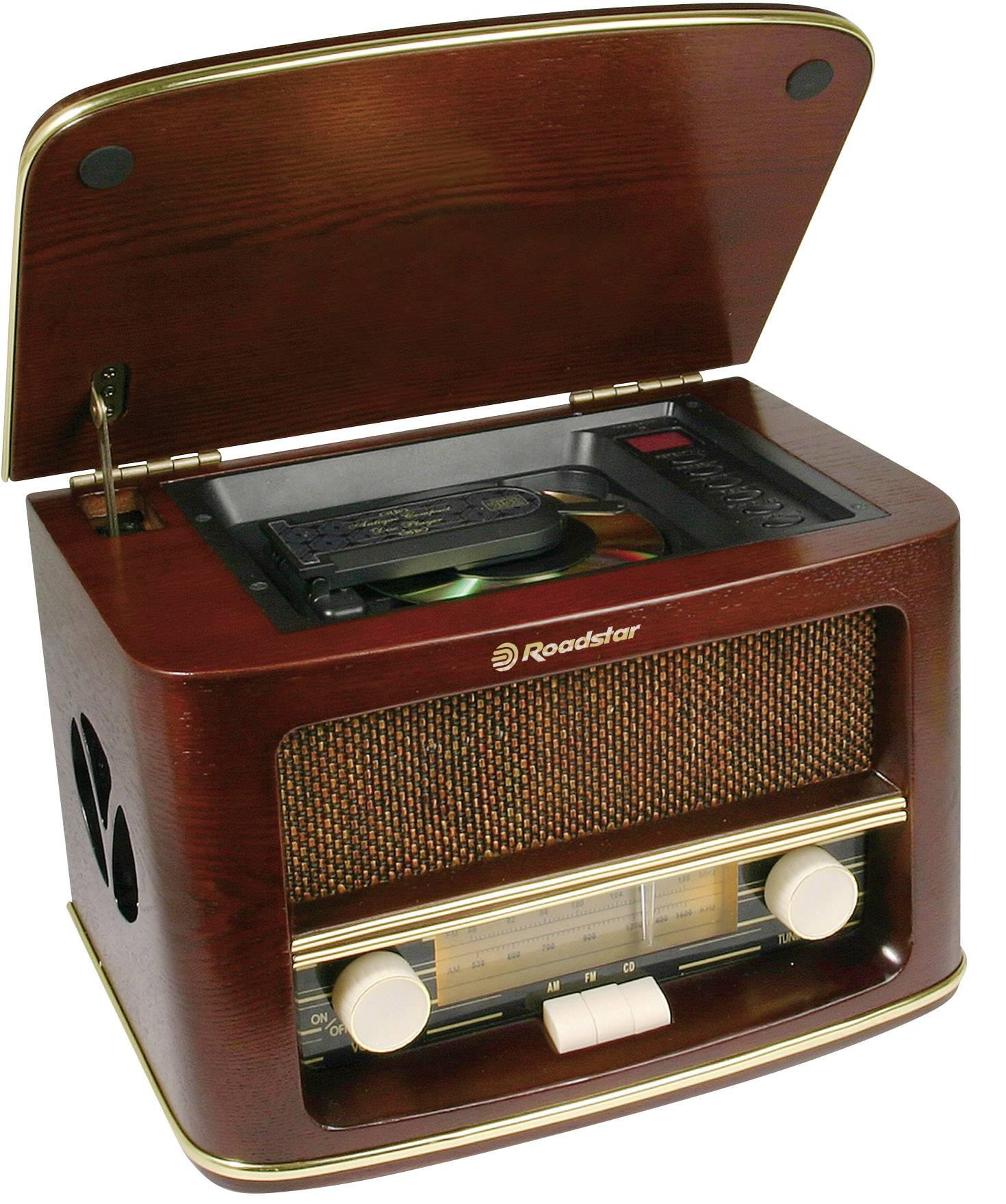 Retro FM stolní rádio Roadstar HRA-1500MP dřevo