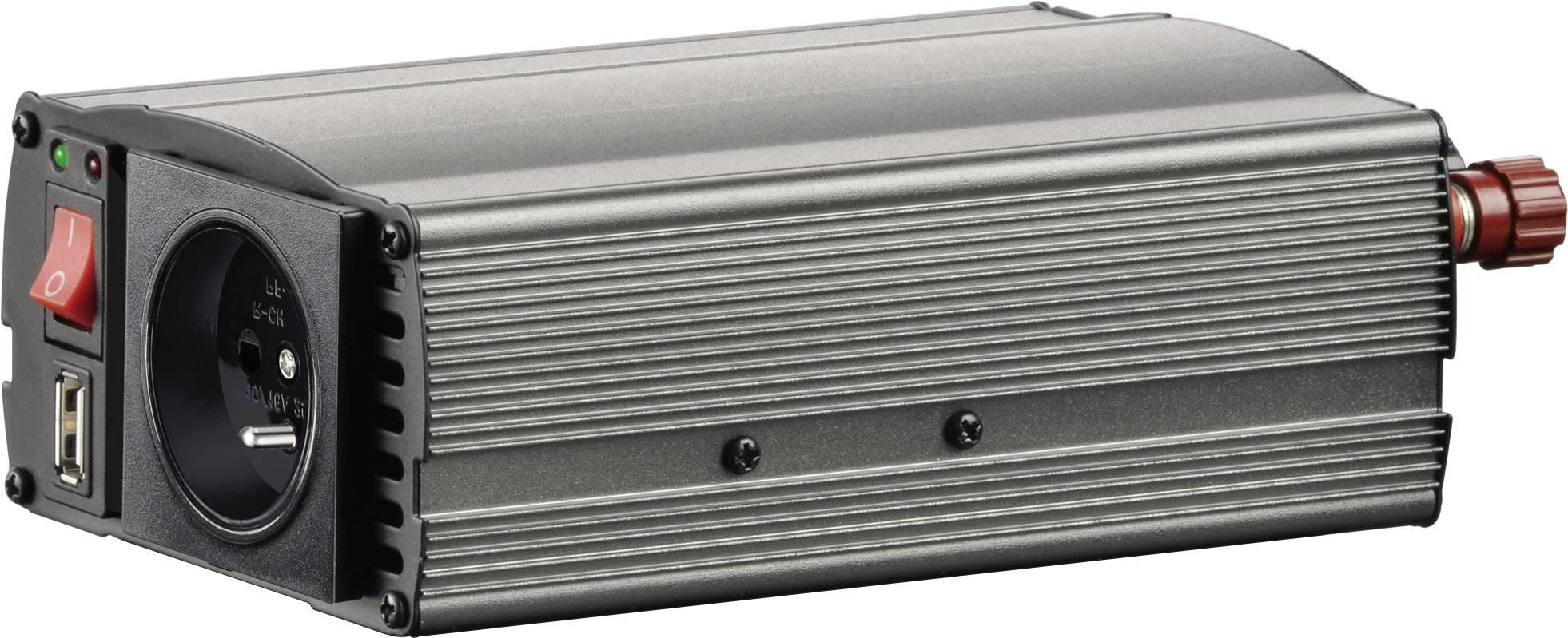 Měnič napětí Voltcraft MSW 300-12-F, USB, , CZ zásuvka