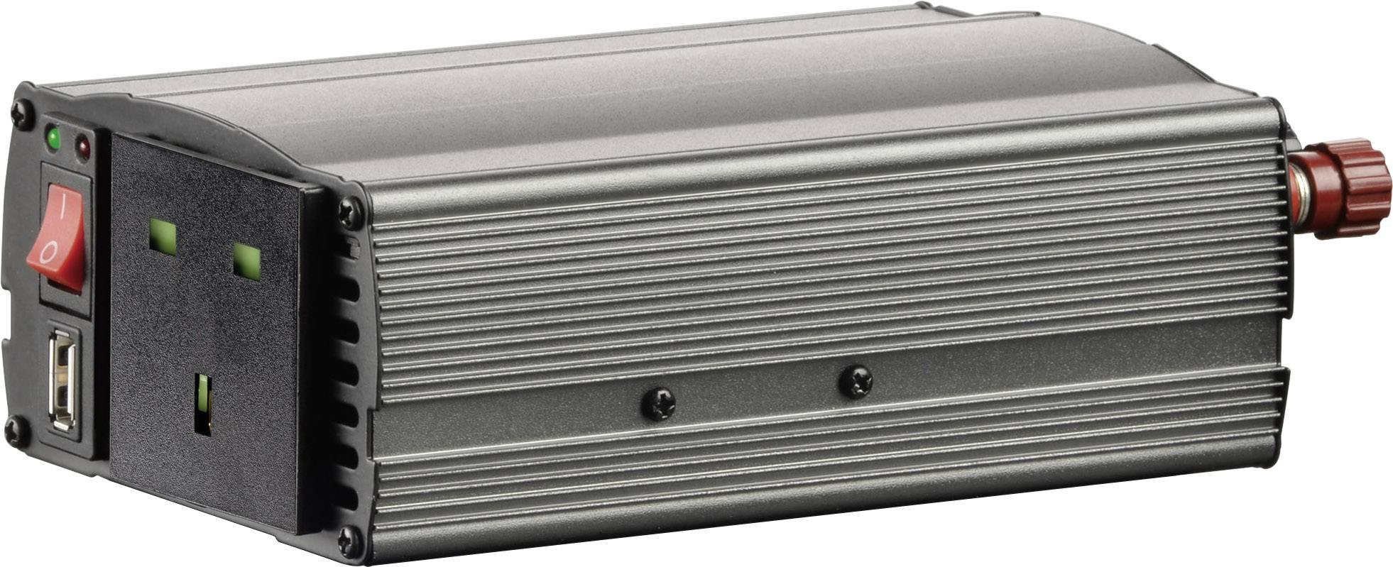 Konvertor VOLTCRAFT MSW 300-12-UK, 300 W, 12 V/DC/230 V/AC, 300 W