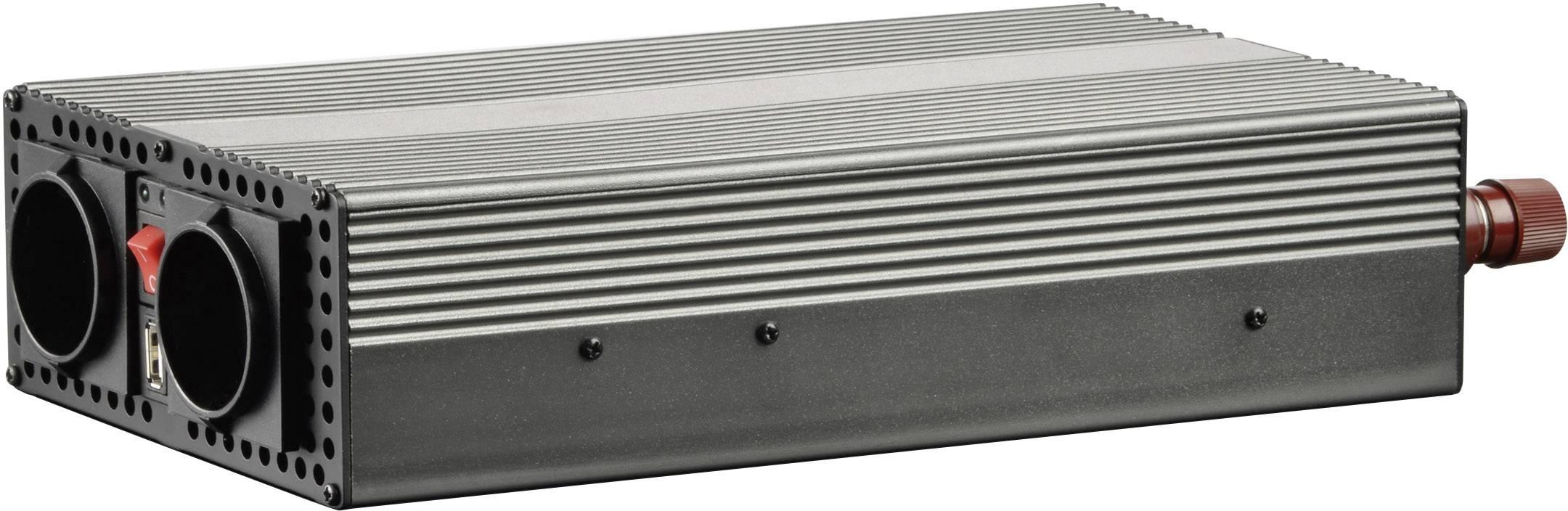 Měnič napětí Voltcraft MSW 1200-24-F, USB, CZ zásuvka