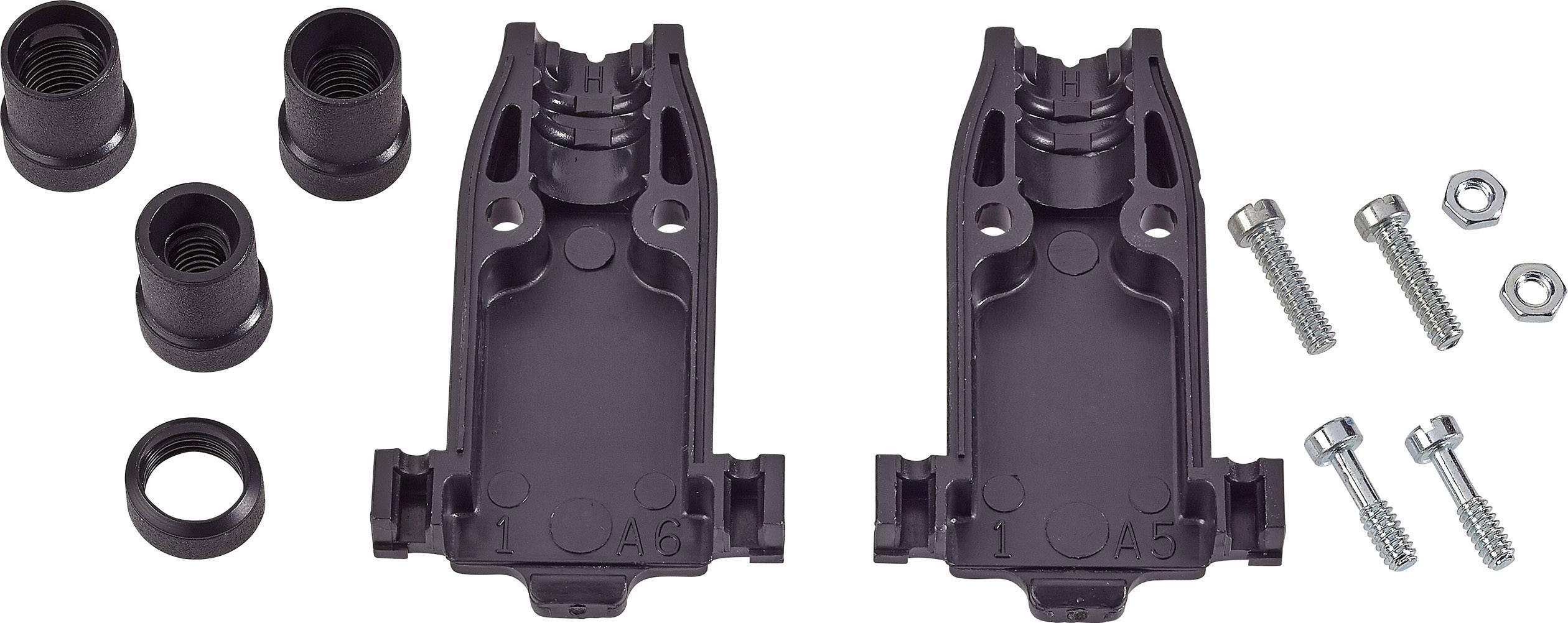 D-SUB pouzdro TE Connectivity AMPLIMITE HD-20 (HDP-20), pólů: 15, ABS, 180 °, stříbrná, 1 ks