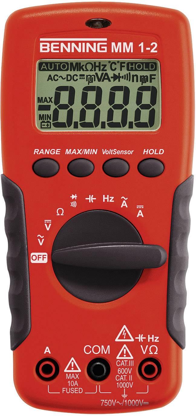 Digitálne/y ručný multimeter Benning MM 1-2 044082