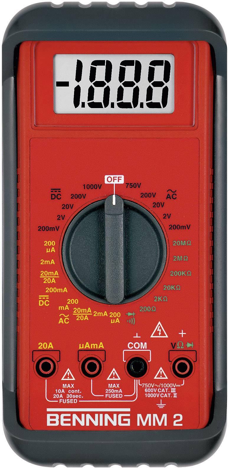 Digitálne/y ručný multimeter Benning MM 2 044028