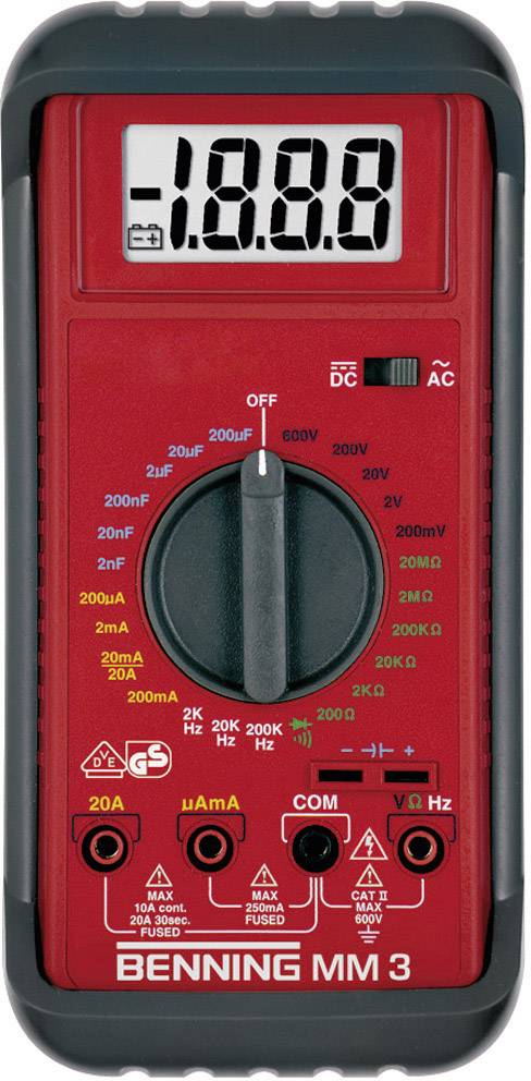 Digitálne/y ručný multimeter Benning MM 3 044029
