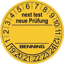 300 ks nálepek s potvrzením o atestu pro tester Benning 756212 (Ø) 30 mm