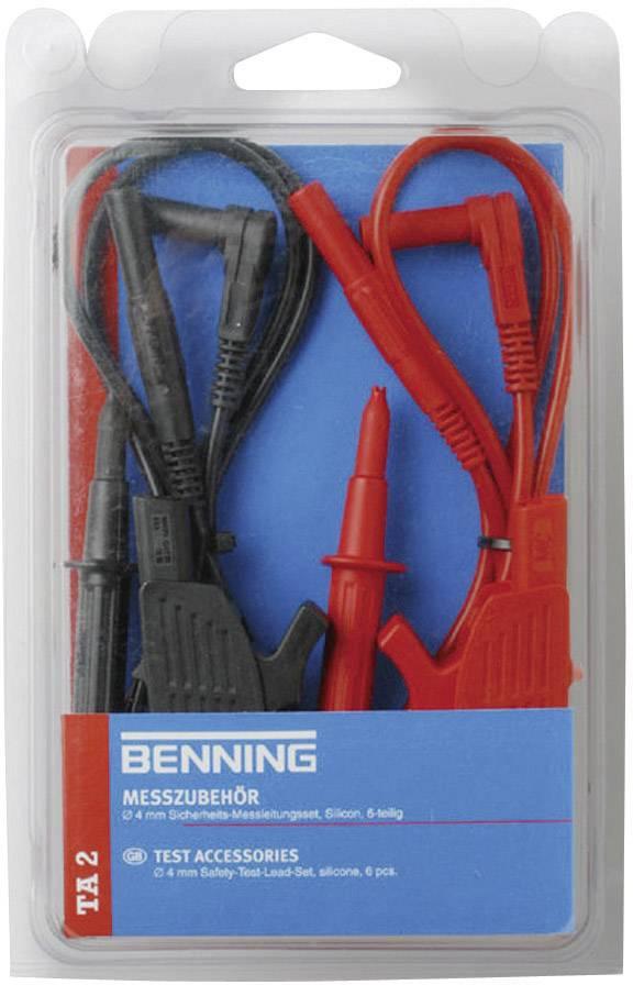 Bezpečnostné meracie káble Benning TA 2, čierny+červený
