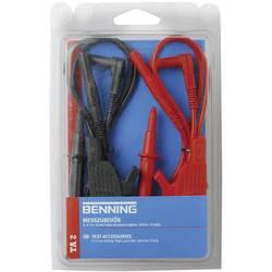 Sada měřicích kabelů banánek 4 mm ⇔ banánek 4 mm Benning TA 2, 1 m, černá/červená